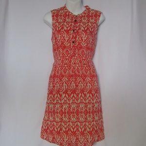 Cynthia Rowley Size 6 Aztec BOHO Linen Dress